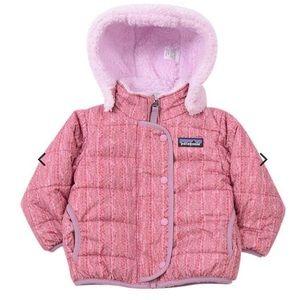 Patagonia Girls Reversible Puffer Fleece Jacket
